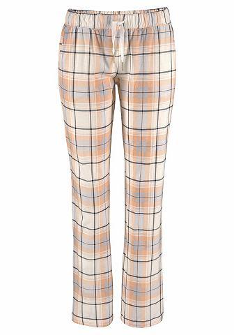 С узором брюки пижамные с прямой штани...