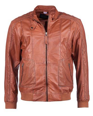 Куртка кожаная с эластичный Strickbund...