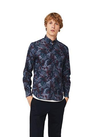 Узкий форма рубашка из Baumwoll-Chambr...