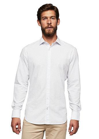 С узором узкий форма хлопковые рубашка...