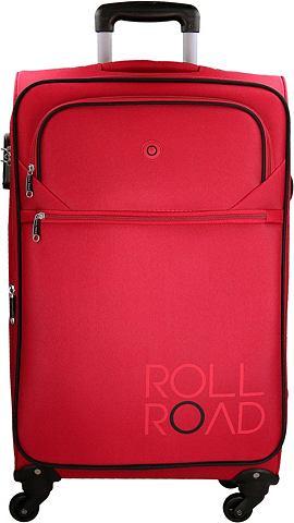 Roll Road Текстильный чемодан с 4 коле...