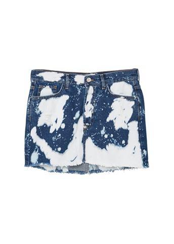 Tie-Dye юбка джинсовая