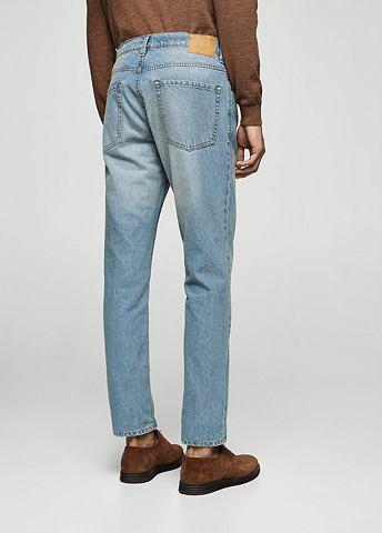 Straight-Fit джинсы Bob с heller имита...