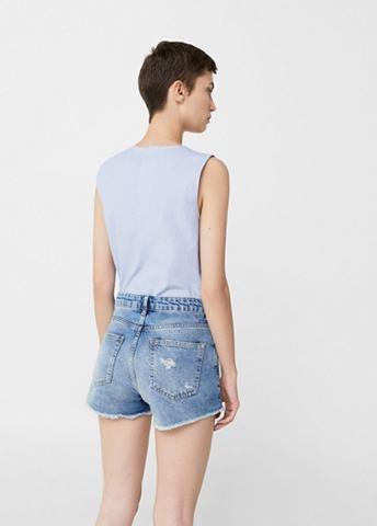 Вышитый шорты джинсовые