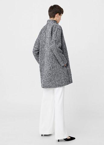 Пальто шерстяное с узор елочка
