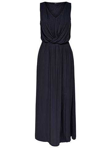 Без рукавов платье-макси длинное
