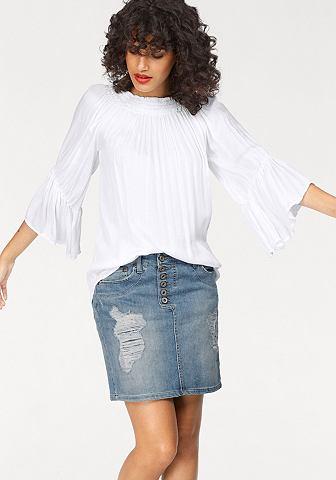 Please джинсы блузка в стиле кармен