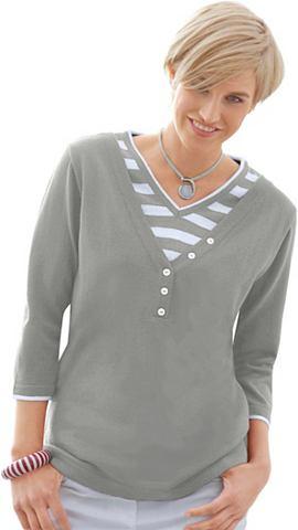 Пуловер с с V-образным вырезом