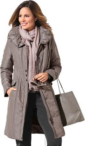 Куртка стеганая с морщинистыми воротни...
