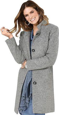 Пальто короткое с gewalkter Wolle