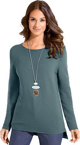 Пуловер с Rollsaum на круглым вырезом