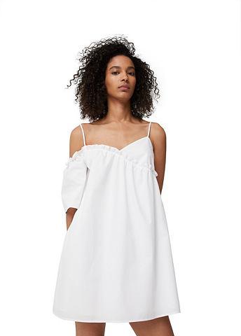 Асимметричный крой платье из Popeline