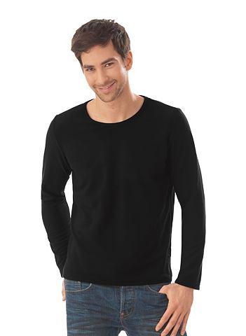 Fleece-Rundhals-Shirt