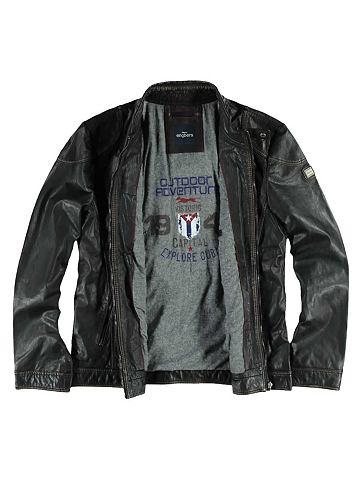 Модная кожаный жакет мотоциклиста