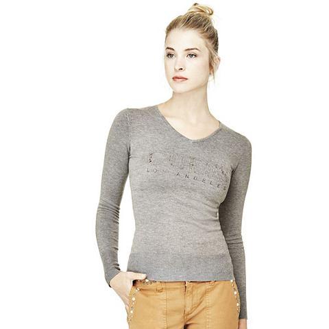 Пуловер LOGO с страз