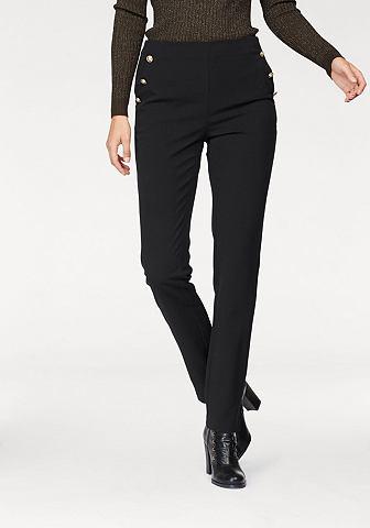 Костюмные брюки с goldfarbenen декоративные пуговицы
