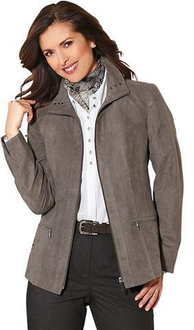 Пиджак в изящный имитация замша