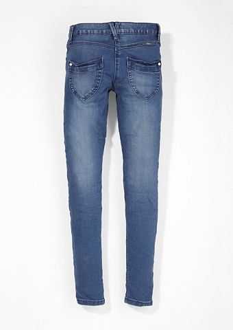 Облегающий Suri: джинсы в Used-Look дл...