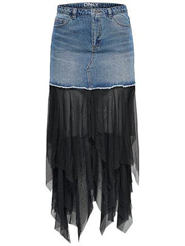 Mesh- юбка джинсовая