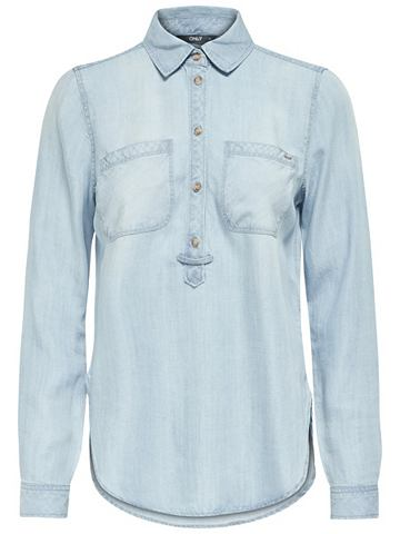 Крепкий рубашка джинсовая в lockerer ф...