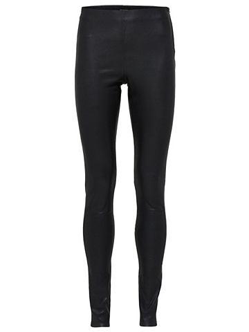 Dehnbare Lamm- брюки кожаные