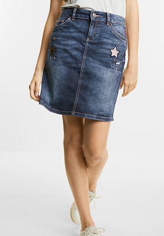 Джинсы мини-юбка с Sternen