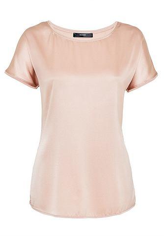 Блузка шелковая в сочетание материалов...