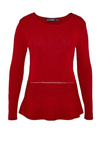 Пуловер с отстрочкой