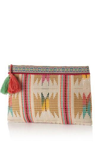 Клатч сумка с farbigen Anhängern