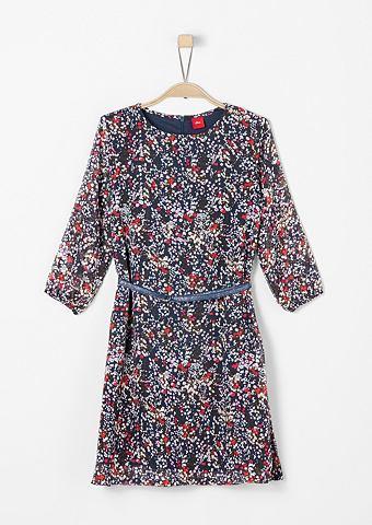 Цветочный узор платье с ремень для M&a...