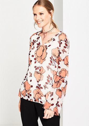 Нежный блузка с легкой ткани с колокол...