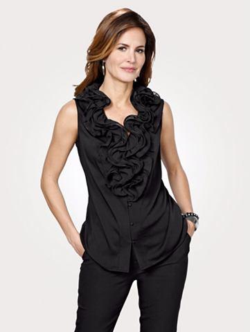 Блуза с декоративный c воланами