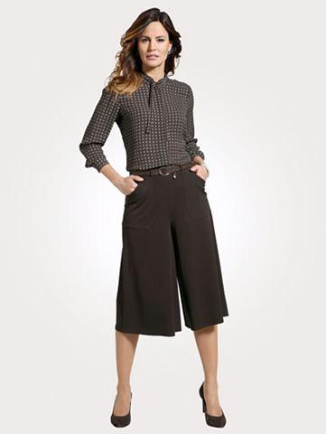 Юбка-брюки с abgesteppten карман
