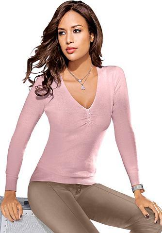 Пуловер с декоративные пуговицы на Aus...