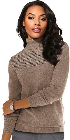 Пуловер с сдержанный прозрачная Ajour-...