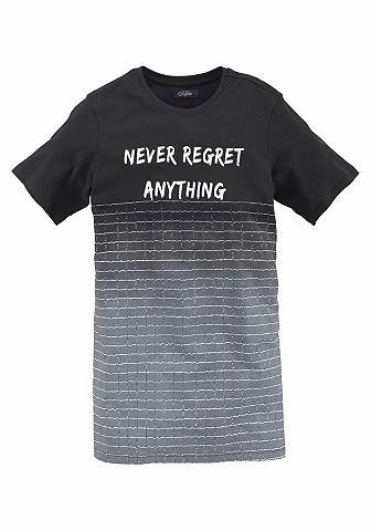 Кофта длинная »NEVER REGRET ANYT...