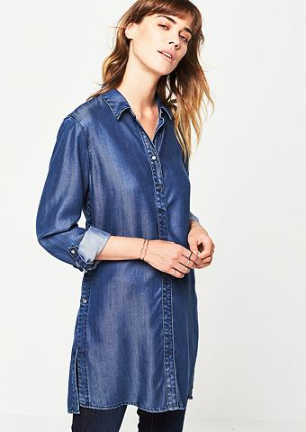 Летний блузка в имитация джинсa