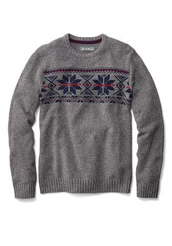 Пуловер с узор