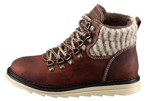 Ботинки на шнуровке кожаные