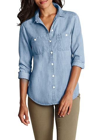 Блуза в имитация джинсовой ткани