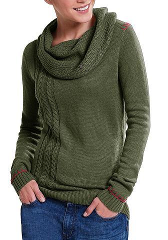 Пуловер с lässigem воротник-гольф...