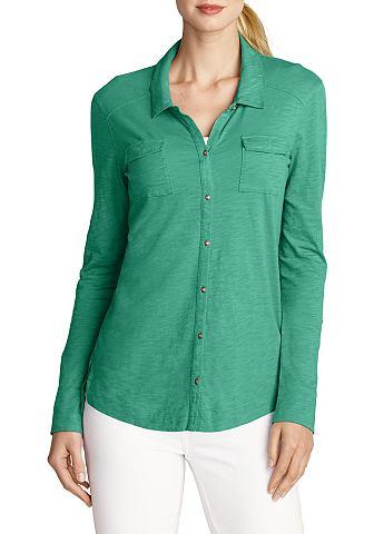 Блузка-рубашка в Slub-Qualität