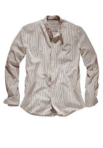 Рубашка сирсакер с воротник стойка
