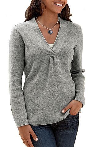 Пуловер с широкий с V-образным вырезом...