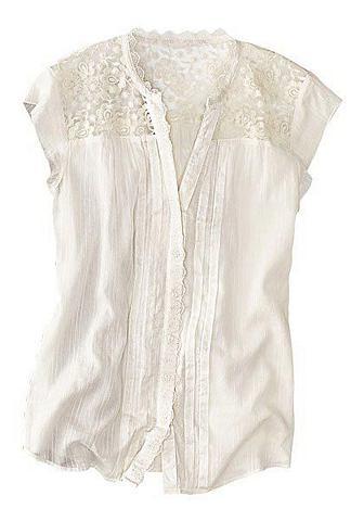 Блуза с Spitzeneinsatz