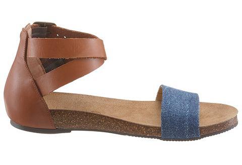 Сандалии кожаные с Textileinsatz