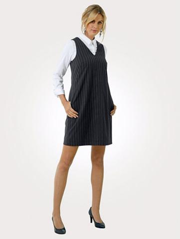 Платье на бретелях с с кантом