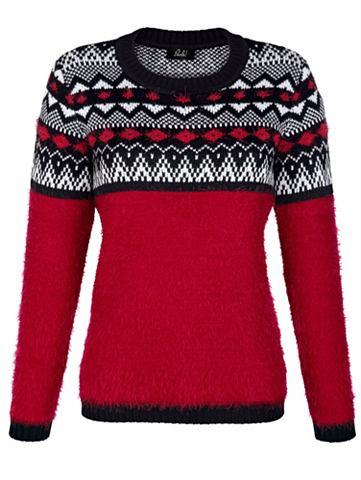 Пуловер с норвежский принт