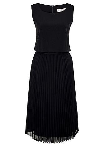 Платье миди-длины с складкоми юбка