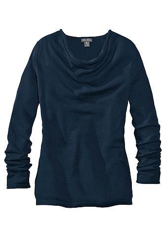 Пуловер с складками